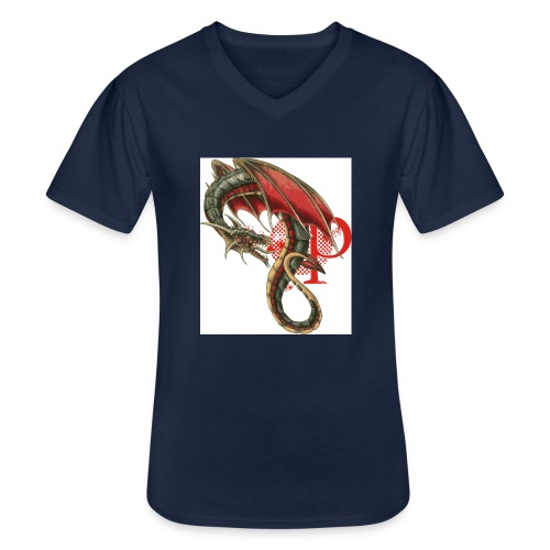 grafik6 - Klassisches Männer-T-Shirt mit V-Ausschnitt