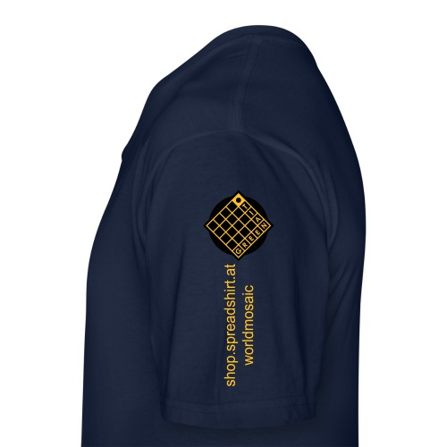 TIAN GREEN Welt Mosaik Shirt - Logo 2020 - Klassisches Männer-T-Shirt mit V-Ausschnitt