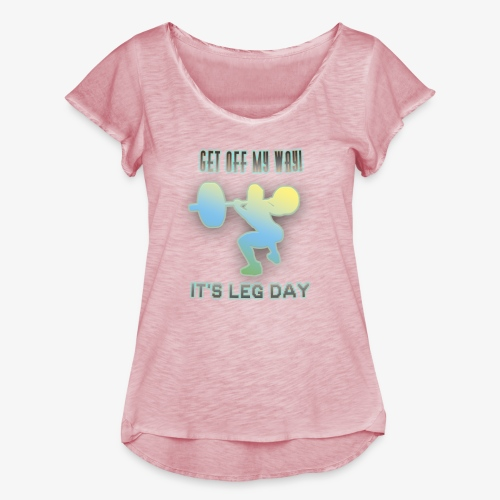 It's Leg Day Women - T-shirt mancherons évasés Femme