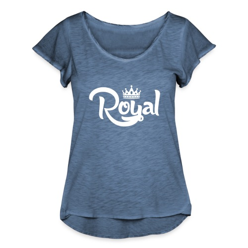 Royal Logo White Edition - Women's Ruffle T-Shirt