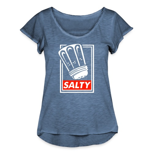 Salty white - Women's Ruffle T-Shirt