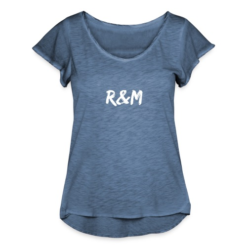 R&M Large Logo tshirt black - Women's Ruffle T-Shirt