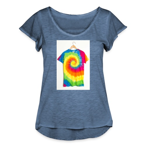 tie die small merch - Women's Ruffle T-Shirt