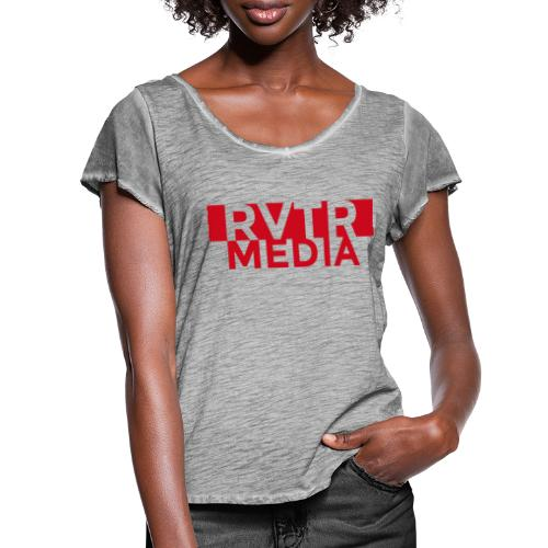 RVTR media red - Frauen T-Shirt mit Flatterärmeln