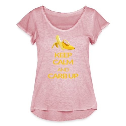KEEP CALM and CARB UP - Frauen T-Shirt mit Flatterärmeln