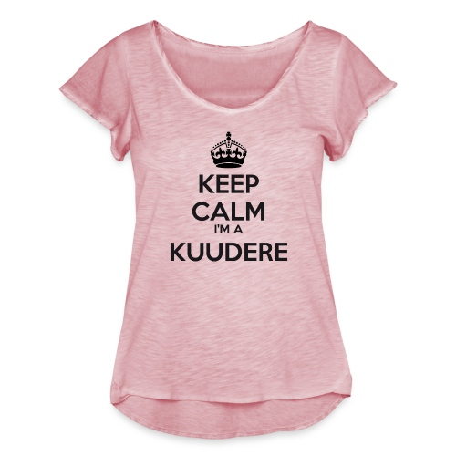 Kuudere keep calm - Women's Ruffle T-Shirt