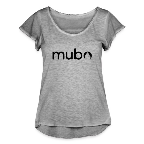 mubo Logo Word Black - Women's Ruffle T-Shirt