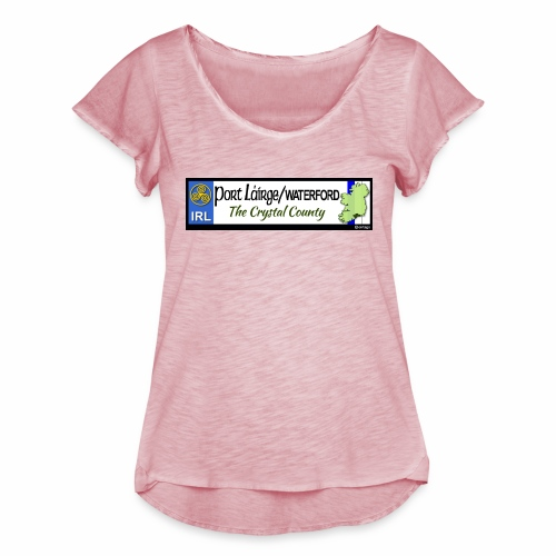 WATERFORD, IRELAND: licence plate tag style decal - Women's Ruffle T-Shirt