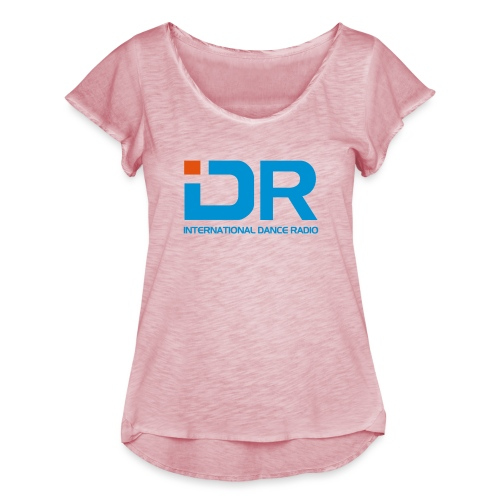 International Dance Radio - Camiseta con mangas de volantes para mujer