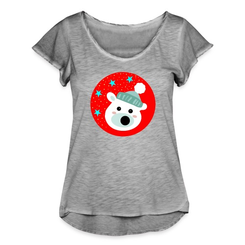 Winter bear - Women's Ruffle T-Shirt