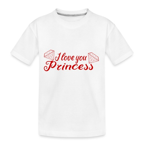 I Love you Princess mit Diamanten - Teenager Premium Bio T-Shirt