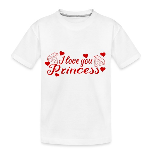 I Love you Princess mit Diamanten und Herzchen - Teenager Premium Bio T-Shirt