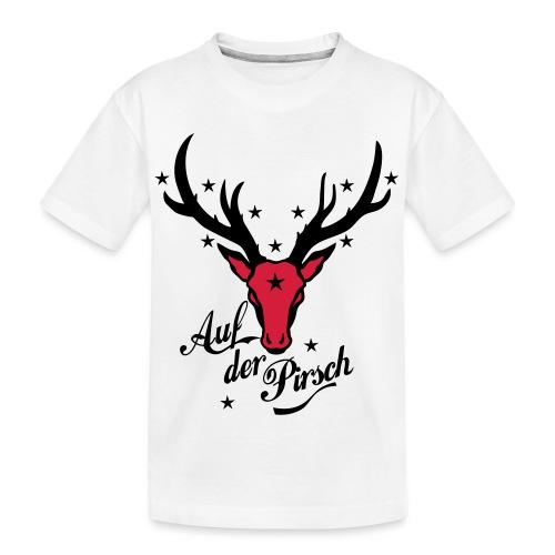 Hirsch auf der Pirsch - Teenager Premium Bio T-Shirt
