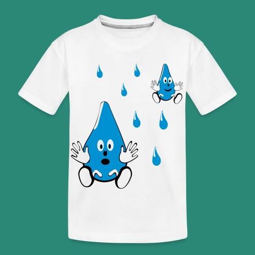 Tropfen - Teenager Premium Bio T-Shirt