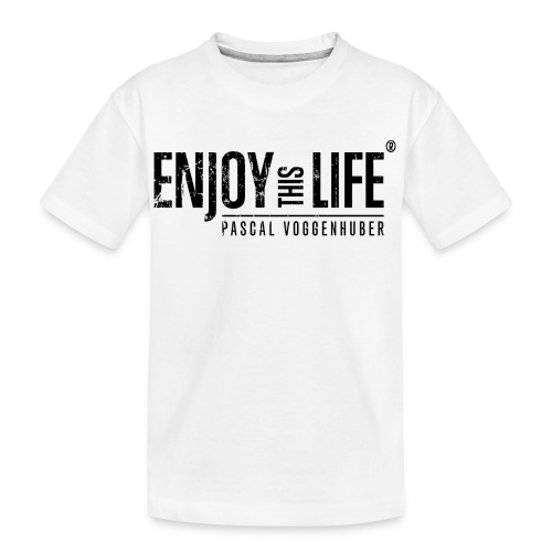 Enjoy this Life®-Classic Black Pascal Voggenhuber - Teenager Premium Bio T-Shirt