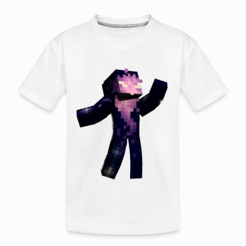 Skin Rising Pose with Shaykh Gaming on Back - Teenager Premium Organic T-Shirt