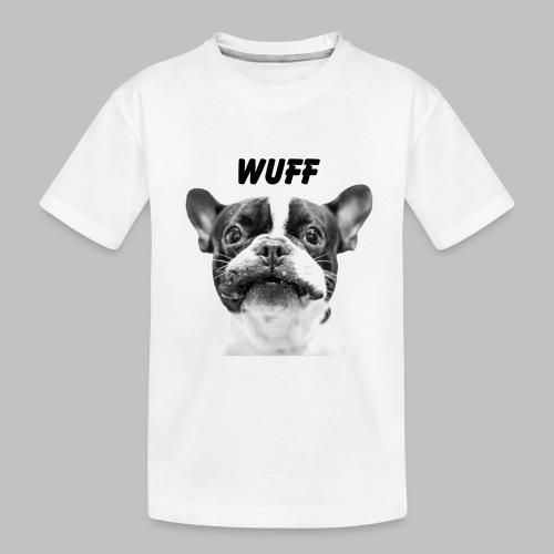 Wuff - Hundeblick - Hundemotiv Hundekopf - Teenager Premium Bio T-Shirt