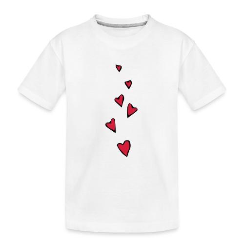 Cuori - Maglietta ecologica premium per ragazzi