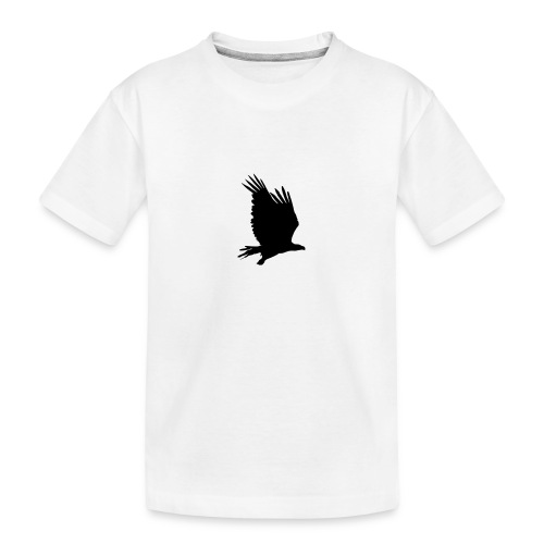 Tirolerbergluft pur (großer Adler) - Teenager Premium Bio T-Shirt