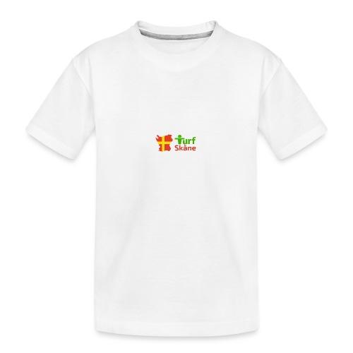 Turf Skåne Logo röd - Ekologisk premium-T-shirt tonåring