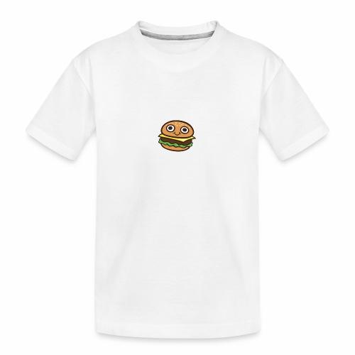Burger Cartoon - Teenager premium biologisch T-shirt