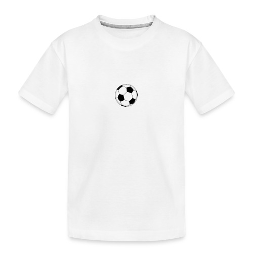 voetbal - Teenager premium biologisch T-shirt