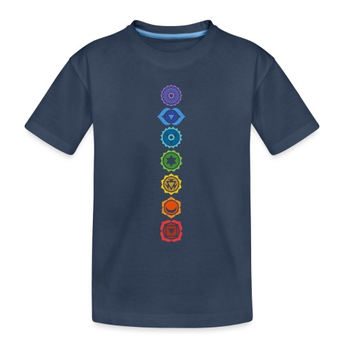 The 7 Chakras, Energy Centres Of The Body - Teenager Premium Organic T-Shirt
