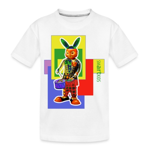 smARTkids - Slammin' Rabbit - Teenager Premium Organic T-Shirt