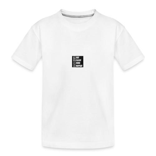 eat sleep bike repeat - T-shirt bio Premium Ado
