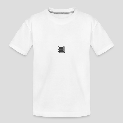 Squared Apparel Black / Gray Logo - Teenager Premium Organic T-Shirt