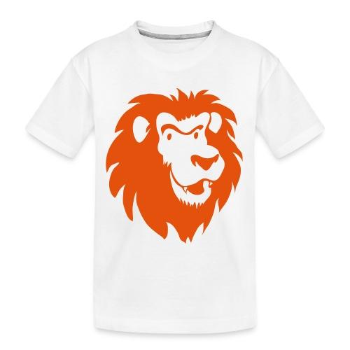 Leeuwenkop 1C - Teenager premium biologisch T-shirt