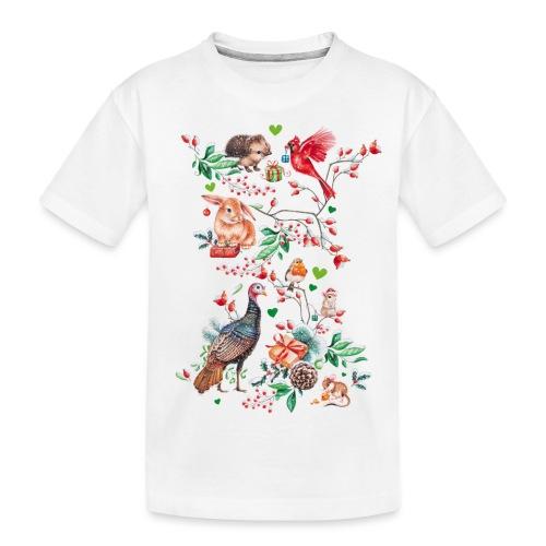 Happy vegan holidays! - Teenager Premium Organic T-Shirt