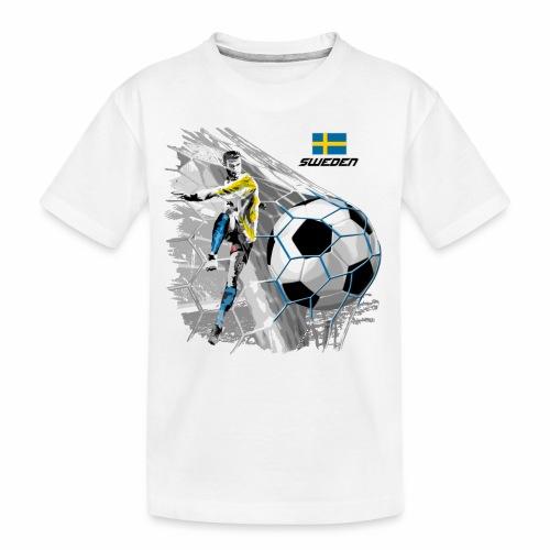 FP22F 16 SWEDEN FOOTBALL - Teinien premium luomu-t-paita
