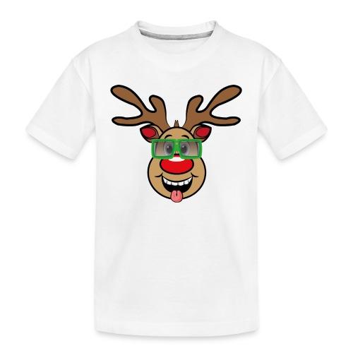 Weihnachten Rudi mit Brille - Teenager Premium Bio T-Shirt