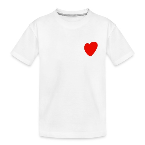 Herz - Teenager Premium Bio T-Shirt