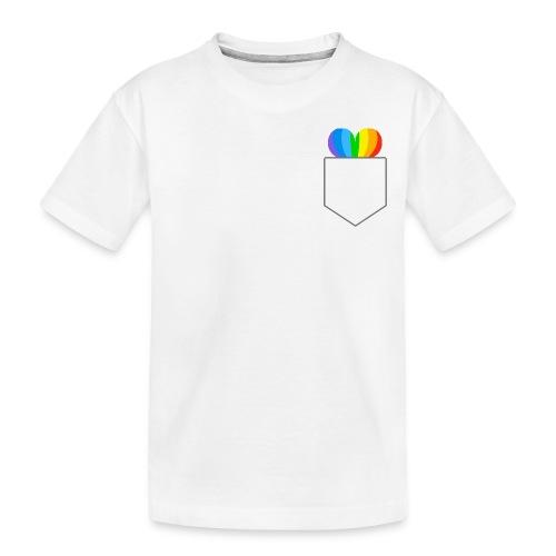 Hjerte LGBTQ - Teenager premium T-shirt økologisk