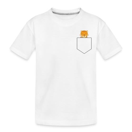 Lomme Tiger - Teenager premium T-shirt økologisk