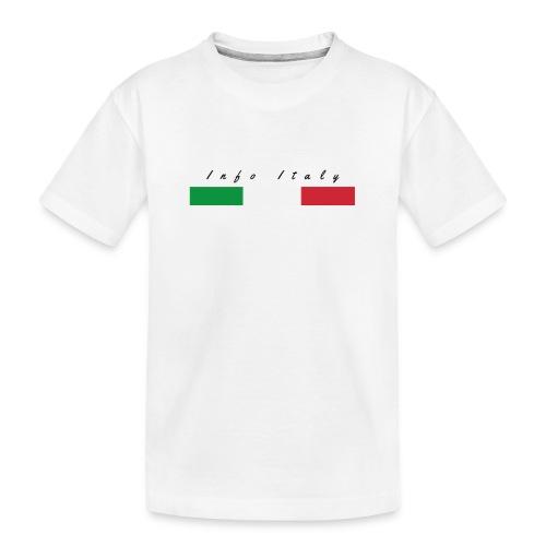 Info Italy Design - Maglietta ecologica premium per ragazzi