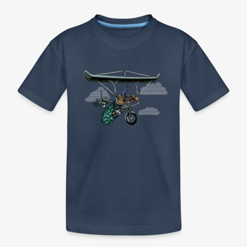 Flight of the Peacock - Teenager Premium Organic T-Shirt