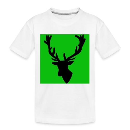 Hirch B GREEN UNIKAT - Teenager Premium Bio T-Shirt