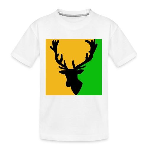 Hirch B ORANGE GREEN - Teenager Premium Bio T-Shirt