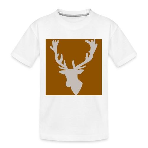 Hirch B BROWN WHITE - Teenager Premium Bio T-Shirt
