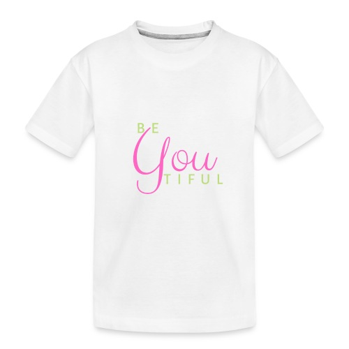 BeYouTiful grün-pink - Teenager Premium Bio T-Shirt