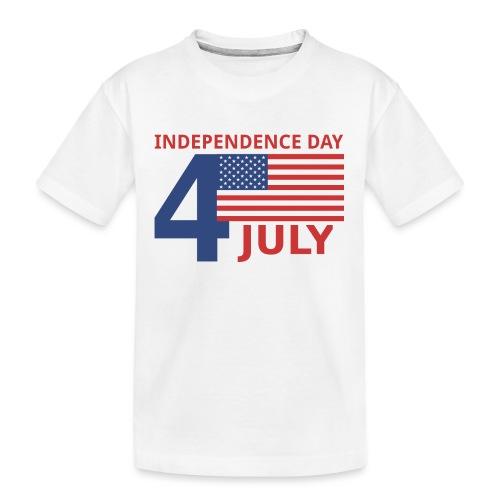 4 luglio giorno della indipendenza - Maglietta ecologica premium per ragazzi