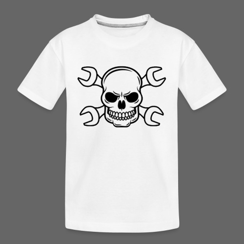 MEKKER SKULL - Teenager premium T-shirt økologisk