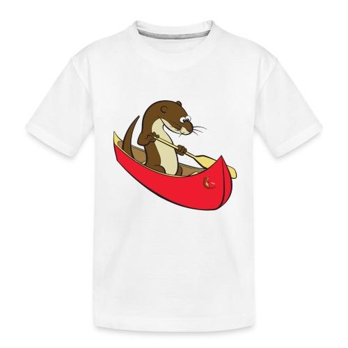 redcanoewithsticker - Teenager Premium Organic T-Shirt