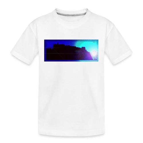 Silhouette of Edinburgh Castle - Teenager Premium Organic T-Shirt