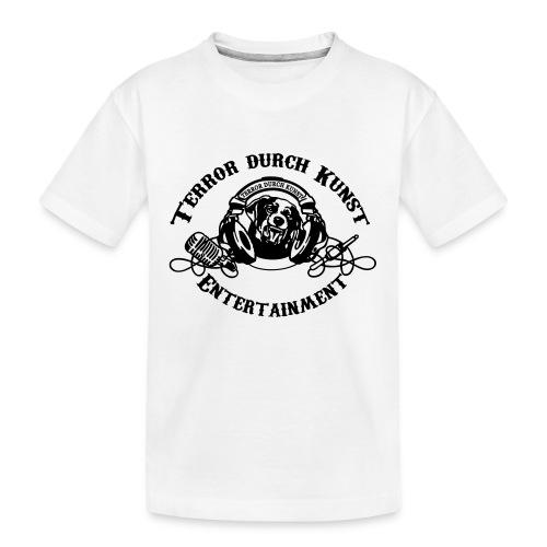 tdklogoschwarz 3 - Teenager Premium Bio T-Shirt