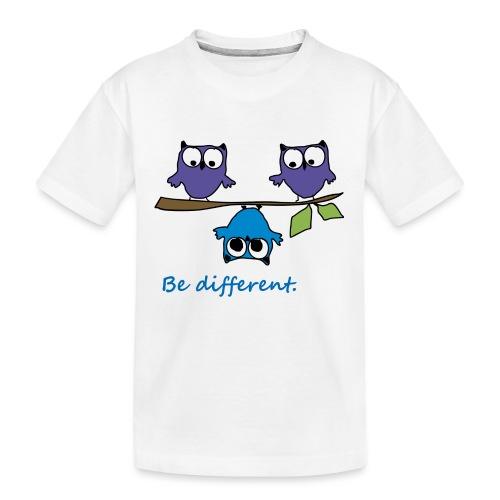 Vogel auf Ast - Be different - Teenager Premium Bio T-Shirt