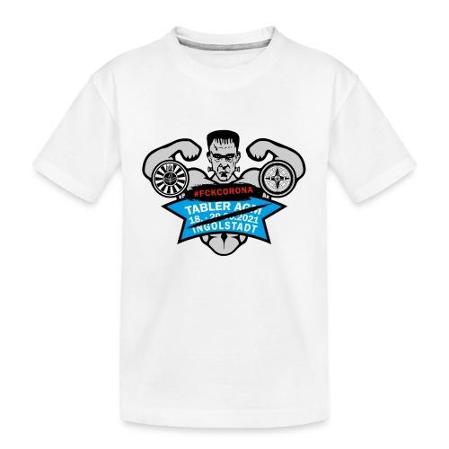 AGM 2021 Logo FCKCORONA 210406 - Teenager Premium Bio T-Shirt